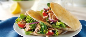 Tuna salad in Pitta bread